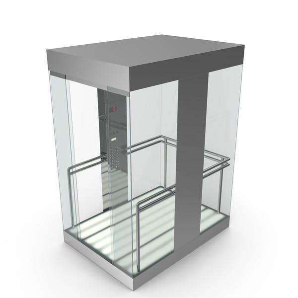 Cover Image for Aufzug Auto Glas