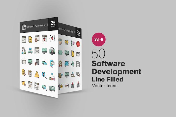 Thumbnail for 50 Разработка программного обеспечения Заполненные Линии Иконки