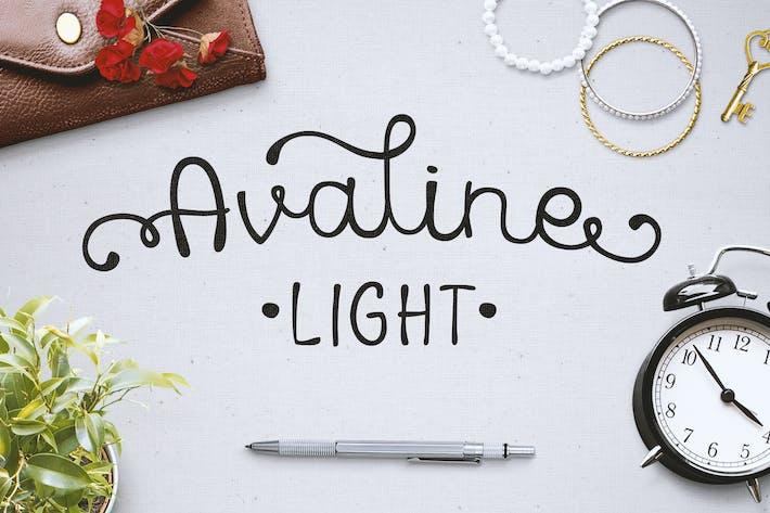 Avaline Script Light