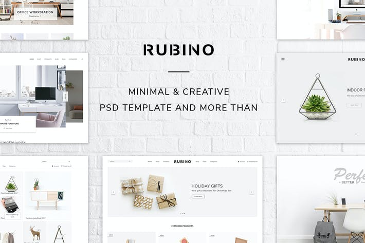 Thumbnail for Rubino - Minimal & Creative PSD Template