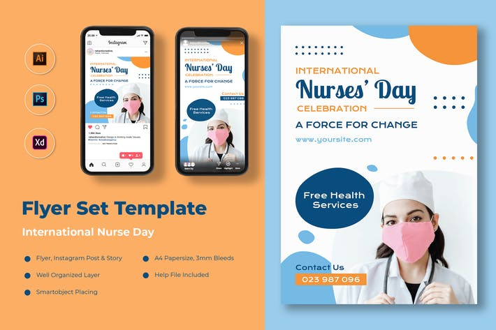 Nurse Day Flyer Set
