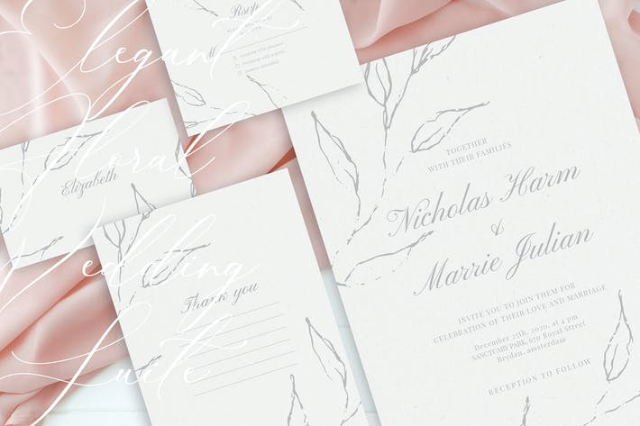 Thumbnail for Elegant Floral Wedding Suite