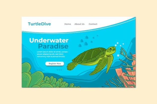 Underwater Paradise Landing Page Illustration
