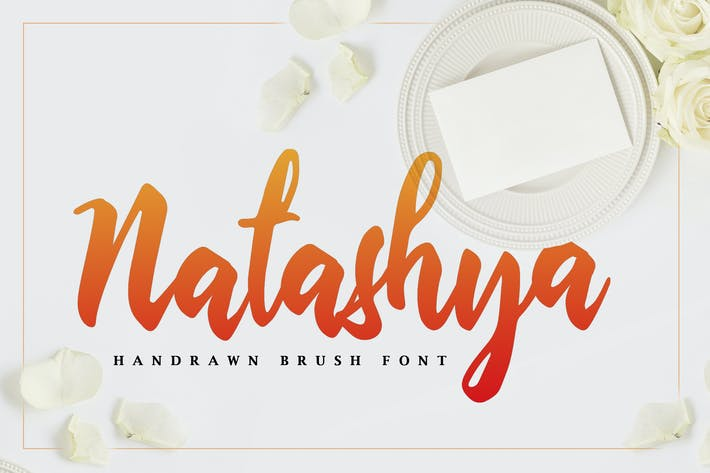 Thumbnail for Natashya - Hand-drawn Brush Font
