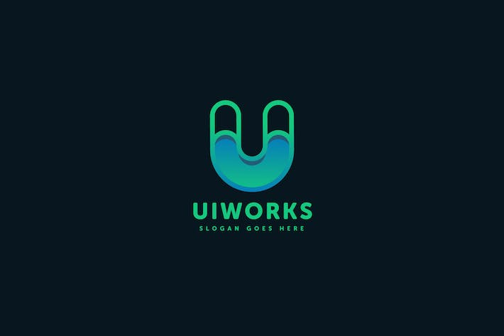 Thumbnail for Ui Works U Letter Logo Template