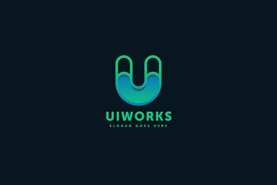 Ui Works U Letter Logo Template