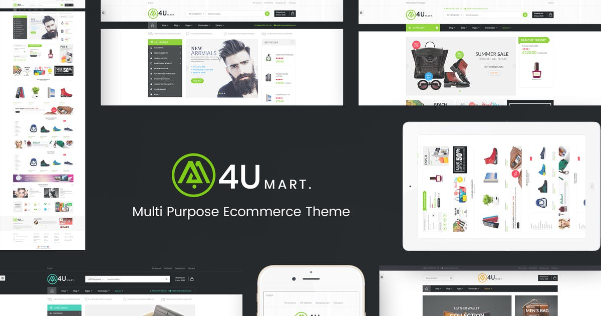 Download M4U - Multi Store Responsive WordPress Theme by roadthemes