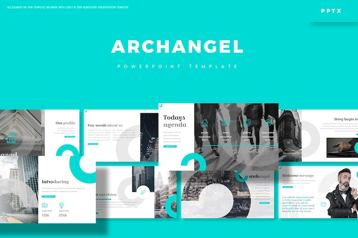 Cover Image For Archangel - Powerpoint Template