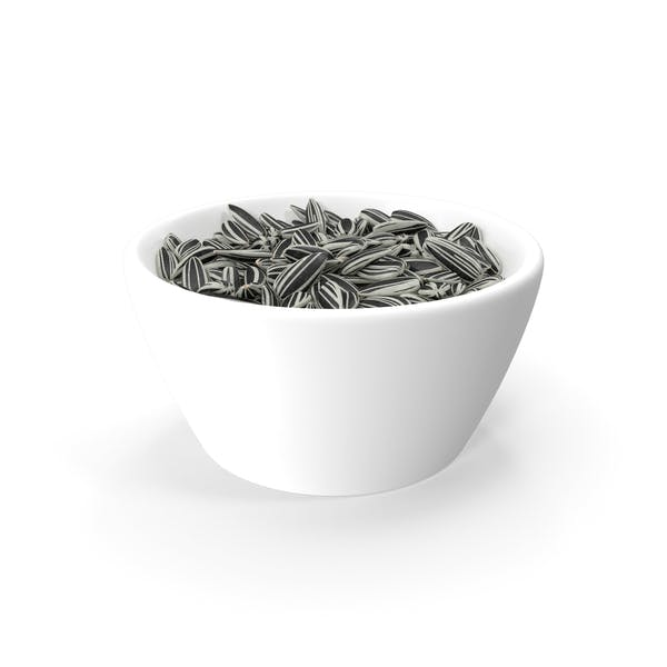 Striped Sunflower Seeds in a Bowl