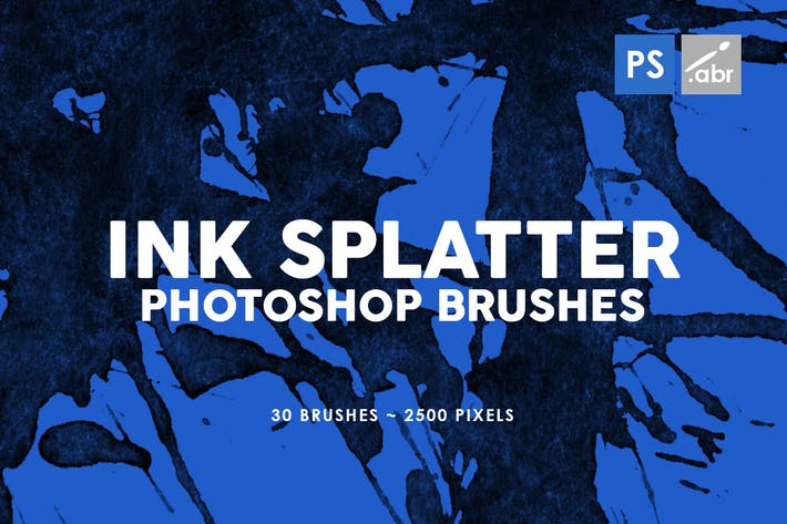 Thumbnail for 30 Ink Splatter Photoshop Brushes Vol. 2