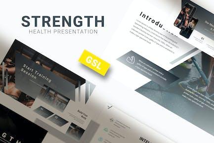 Strength - Gym Google Slides Template
