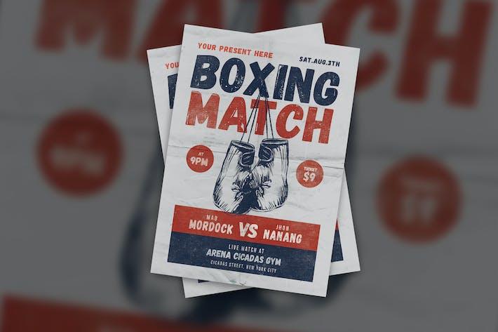 Thumbnail for Folleto de Boxeo Match