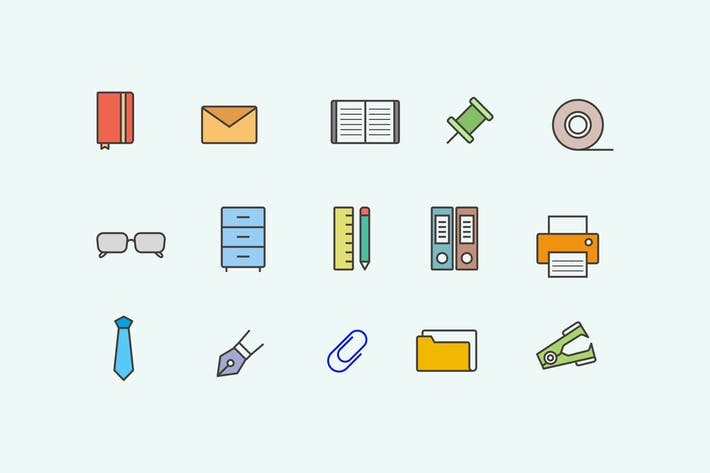 Thumbnail for 15 Office Item Icons