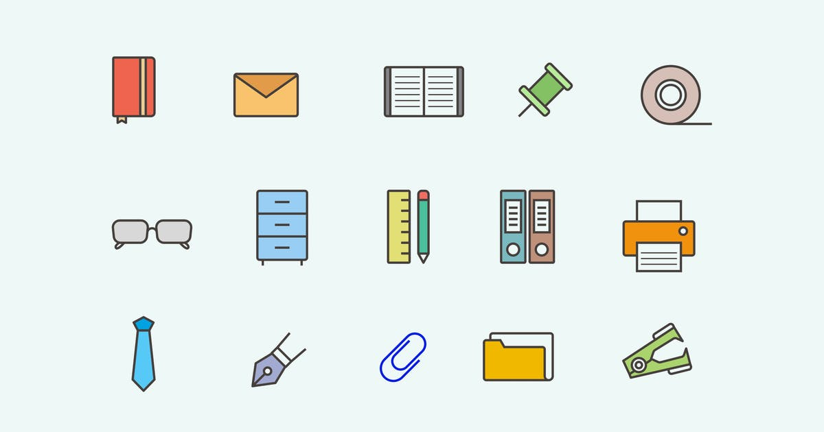 Download 15 Office Item Icons by creativevip