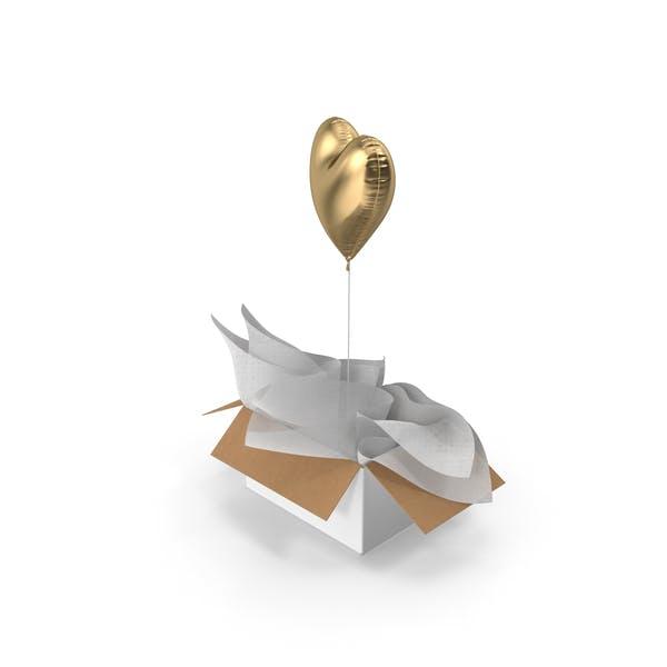 Gold Heart Balloon Surprise Box