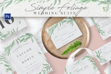 Simple Foliage Wedding Suite