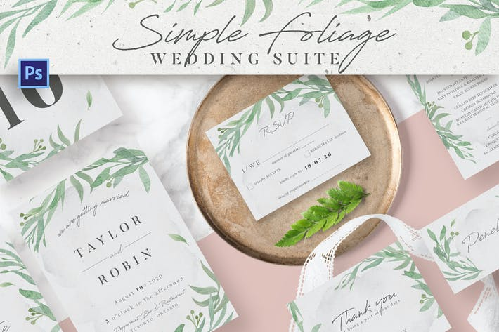 Simple Foliage Wedding Suite