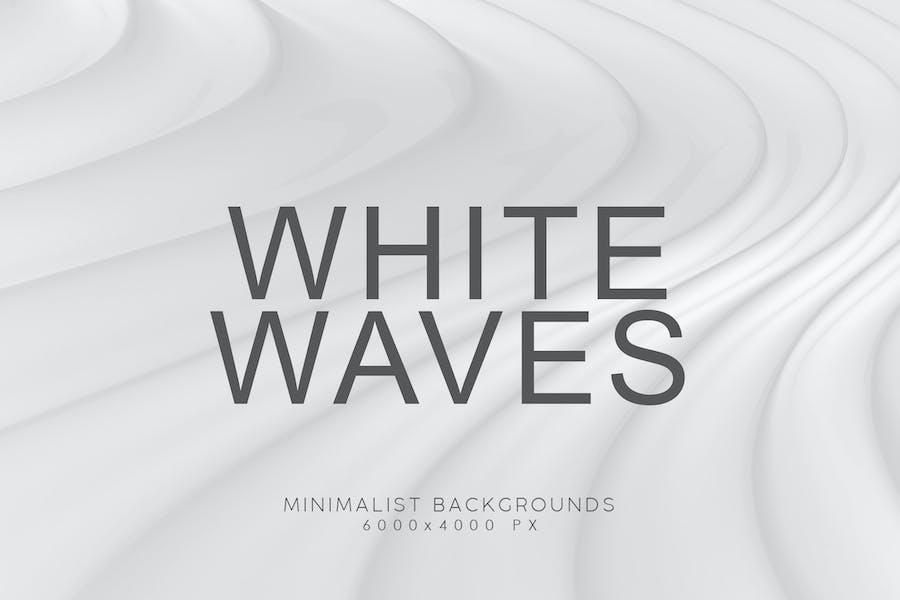 White Minimalist Wave Backgrounds 1
