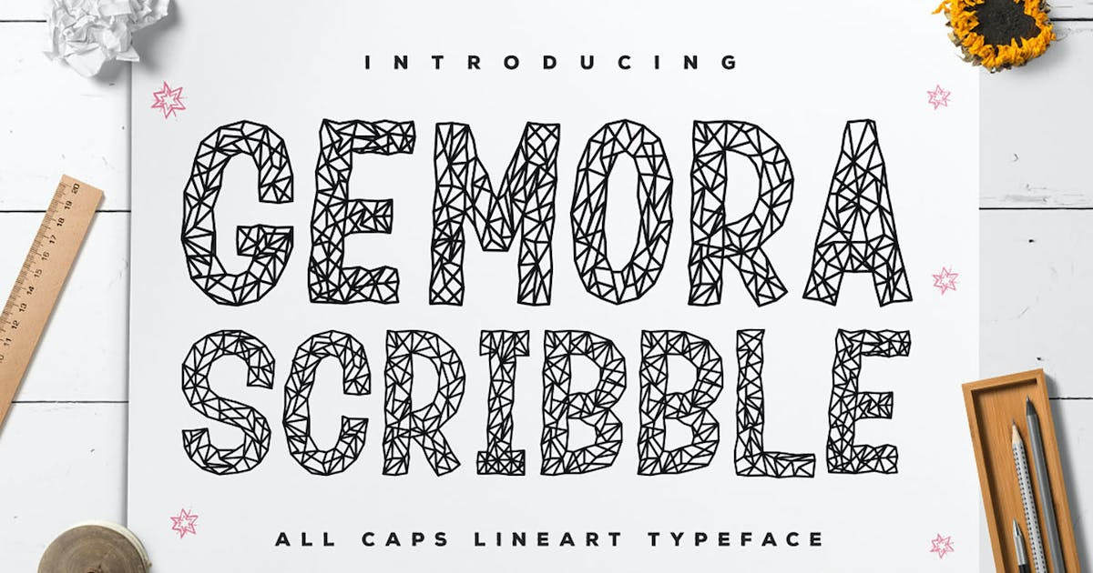 Download Gemora Scribble - Unique Display Font by kotakkuningstudio