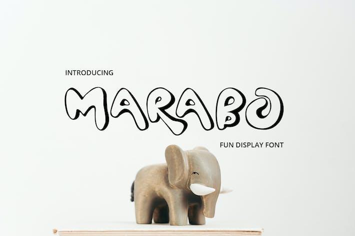 Marabo Display Font