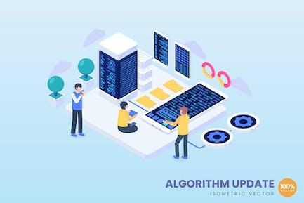 Algorithm Update Concept Illustration