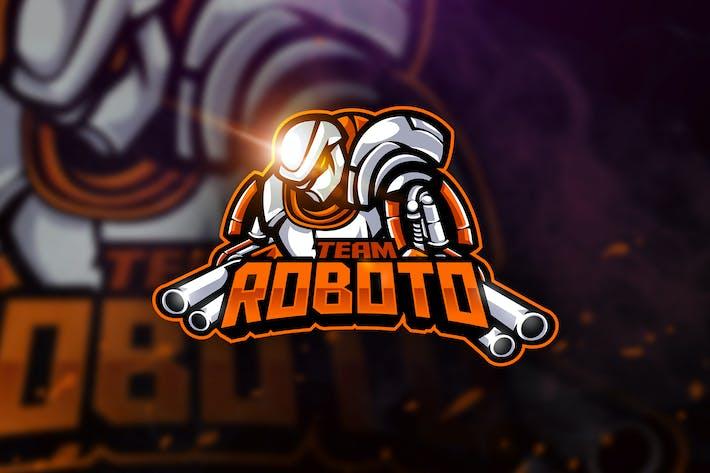 Thumbnail for Team Roboto - Mascot & Esport Logo