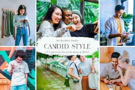 15 Candid Style Lightroom Presets