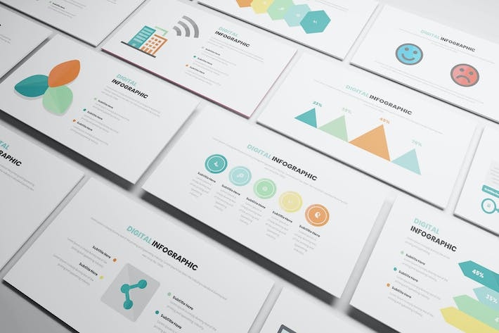 Thumbnail for Digital Infographic Powerpoint Template