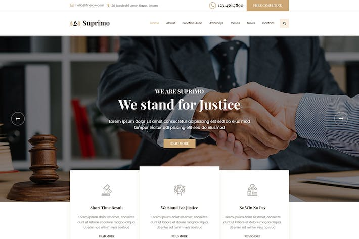 Thumbnail for Suprimo | Lawyer Attorney Website HTML Template