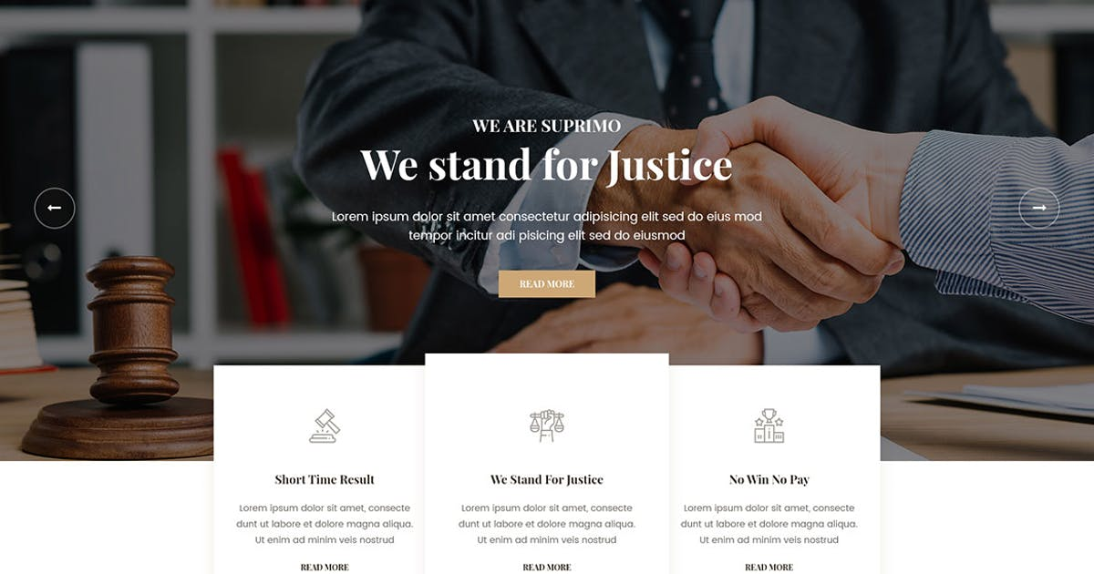 Download Suprimo   Lawyer Attorney Website HTML Template by themesflat