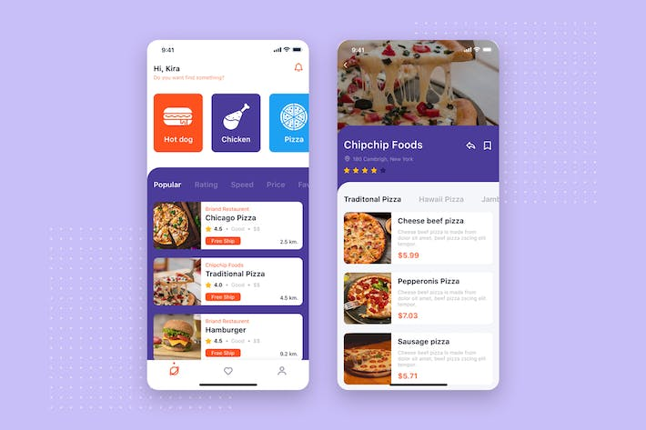 Thumbnail for Food Delivery App UI Concept