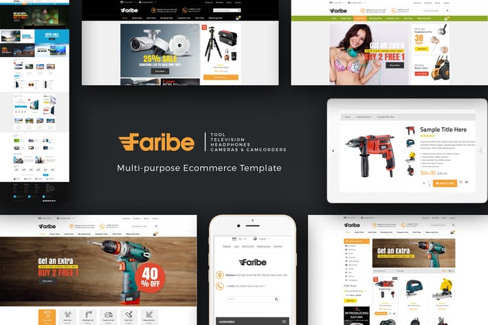 Thumbnail for Faribe - Multi Purpose Opencart 3 Theme