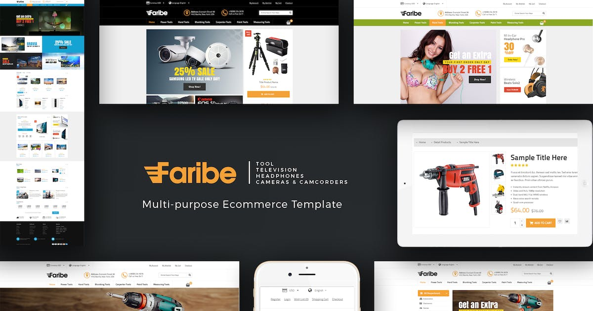 Download Faribe - Multi Purpose Opencart 3 Theme by Plaza-Themes