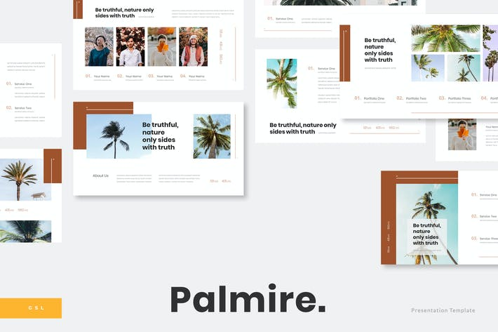 Thumbnail for Palmire - Exotic Plant Google Slides Template
