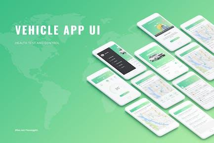 Vehicle App UI concept