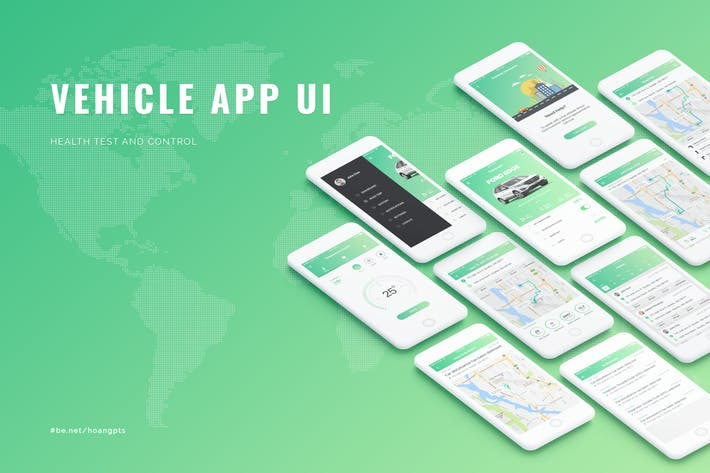 Thumbnail for Vehicle App UI concept