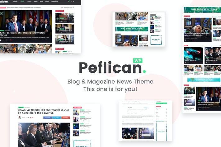 Thumbnail for Peflican - A Newspaper & Magazine WordPress Theme
