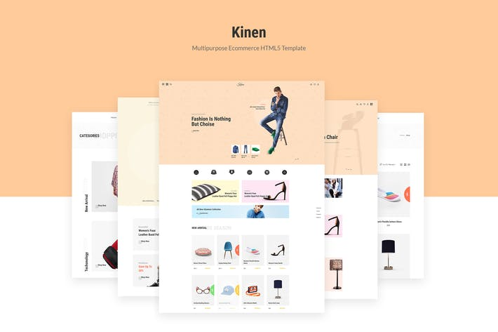 Thumbnail for Kinen | Multipurpose Ecommerce HTML5 Template