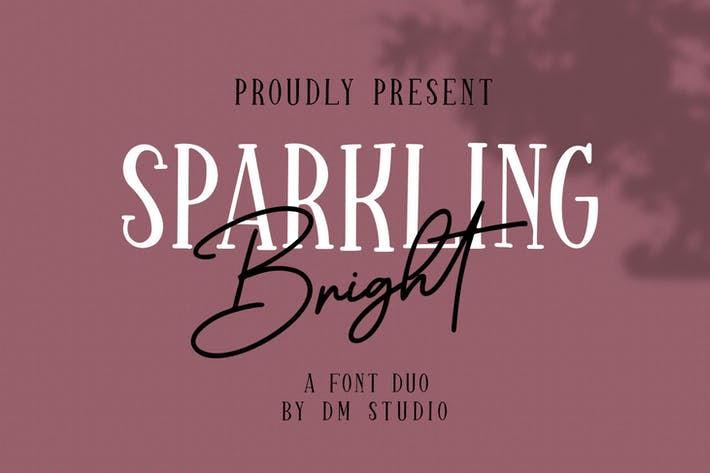 Thumbnail for Sparkling Bright - Beauty Font Duo