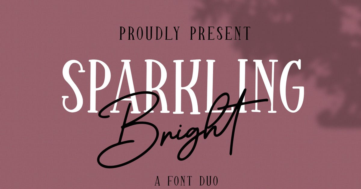 Download Sparkling Bright - Beauty Font Duo by DmLetter