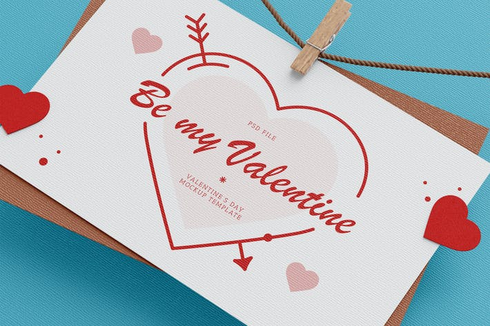 Thumbnail for Valentine's Day Card Mockup