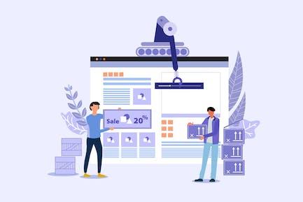 Website Builder - Ilustración Vector