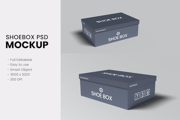 Thumbnail for Shoe Box Mockups Vol 01