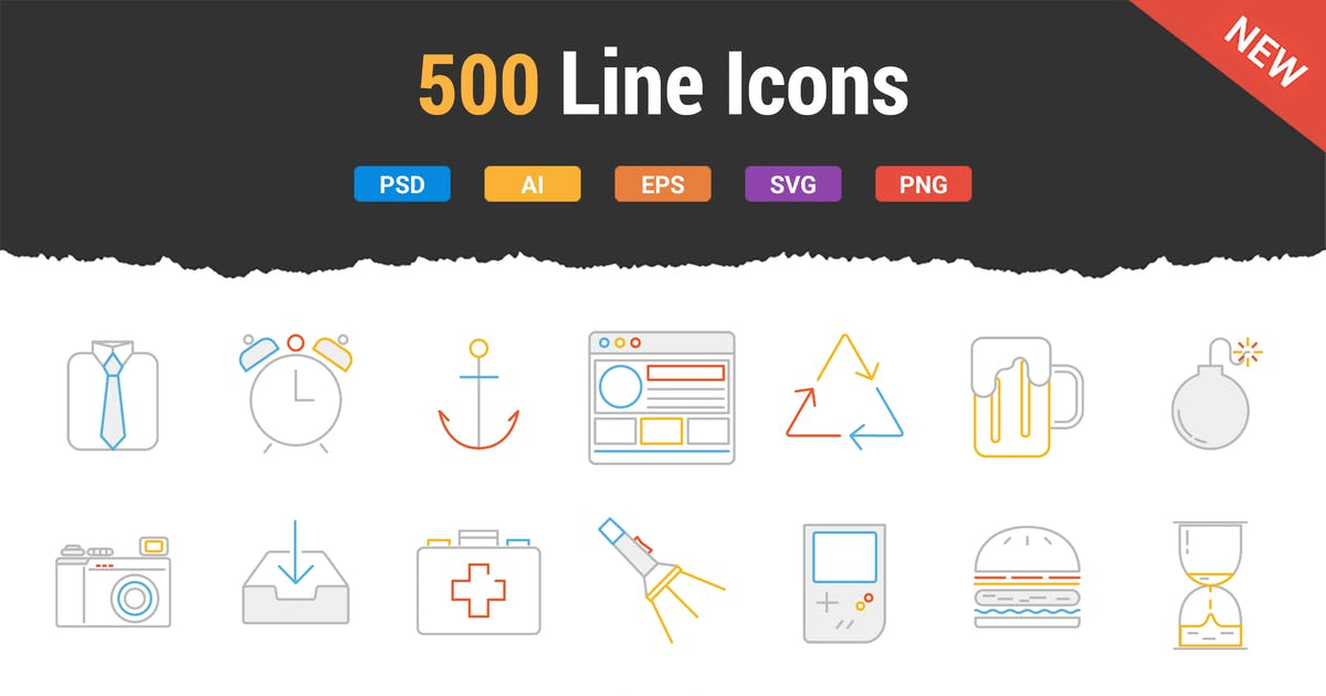 Download Line Icons by Krafted