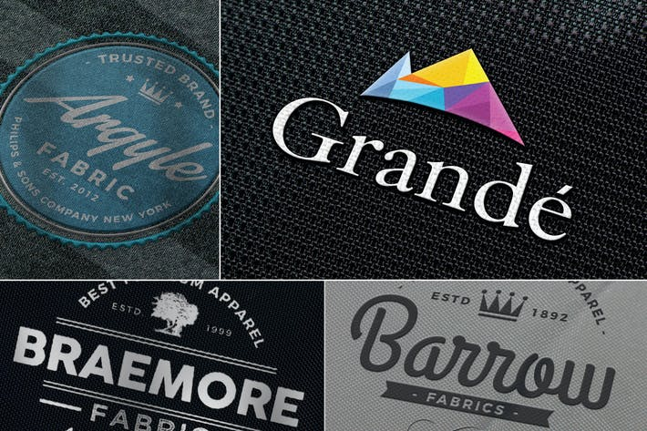 Thumbnail for Photo-realistic Fabric Logo Mockups