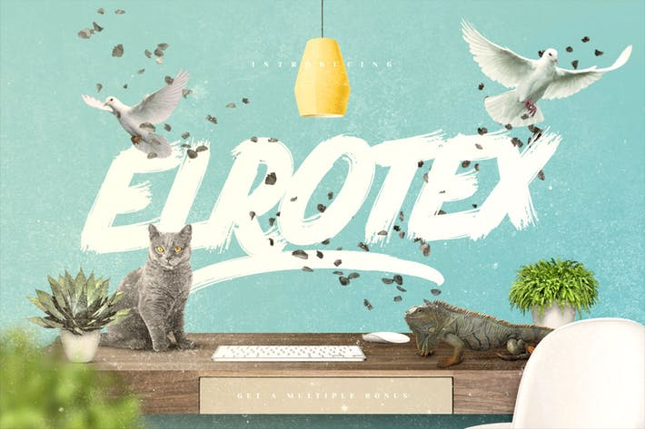 Cover Image For Elrotex Brush Font