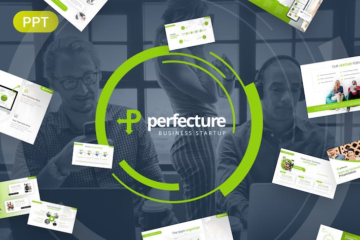 Thumbnail for Perfecture Business StartUp PowerPoint Template