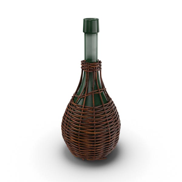 Thumbnail for Glass Jug in Woven Basket