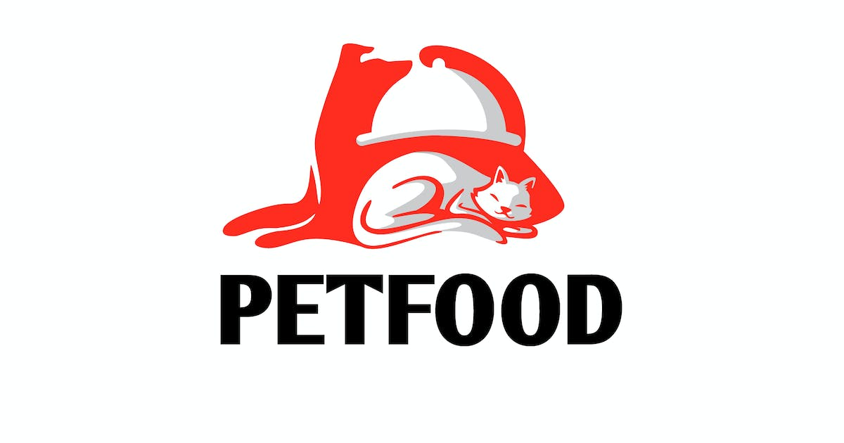 Download Pet Food - Dog and Cat Negative Space Logo by Suhandi