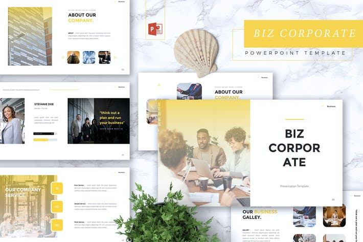 Thumbnail for BIZ - Business Corporate Powerpoint Template